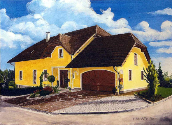 Einfamilienhaus Münzbach (70x50cm) 2010