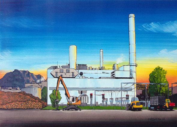 Gaskraftwerk Laakirchen (70x50cm) 2011