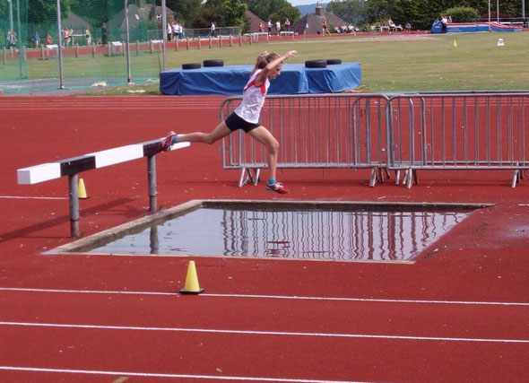 Betan Moor in her first ever steeplechase
