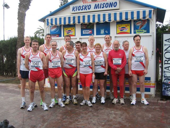 The Gloucester AC contingent before the start