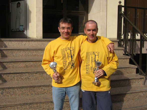 Keith Short and Dave Gresswell with their trophies
