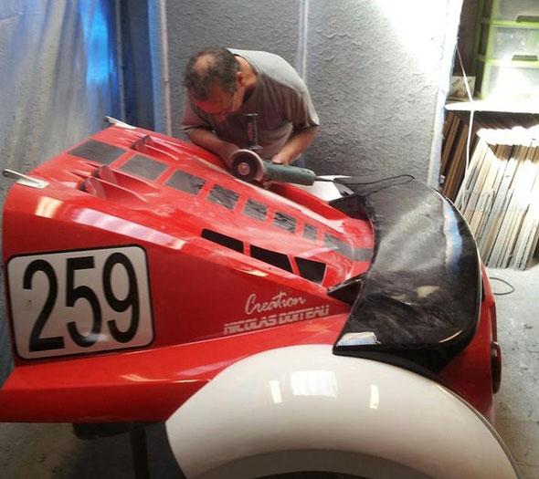 Modification capot arrière - Découpe aération moteur