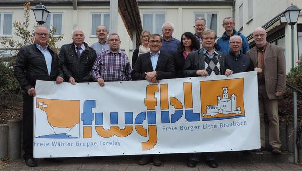 Der gewählte Vorstand der FWG-FBL Braubach-Loreley: Mit Erfahrung und neuer Energie in die Zukunft.