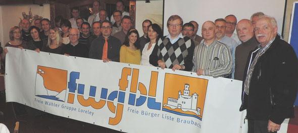 Unter der engagierten Wahlleitung des FWG-Kreisvorsitzenden Bernd Hartmann erarbeitete die FWG/FBL Mitgliederversammlung ihre Liste der Kandidatinnen und Kandidaten für die Wahl zum Verbandsgemeinderat am 25. Mai 2014.