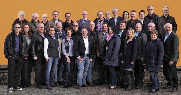 Die Kandidatinnen und Kandidaten der FWG-FBL für den Verbandsgemeinderat Loreley für die Wahl am 26.05.2019