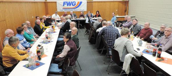 Die Mitgliederversammlung 2018 der Freien Wähler Gruppe im Rhein-Lahn-Kreis fand in diesem Jahr im Dorfgemeinschaftshaus in Gemmerich statt.