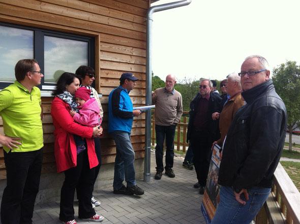 Die Freien informieren sich über den Stand der Entwicklungen auf dem Loreleyplateau.