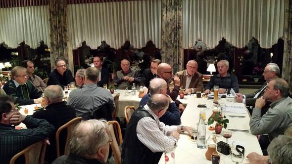 """Die FWG/FBL Braubach-Loreley traf sich zur Jahreshauptversammlung 2013 auf dem Loreleyplateau im Berghotel """"Loreley"""" zu Wahlen und einem engagierten Gedankenaustausch zu aktuellen kommunalpolitischen Themen."""