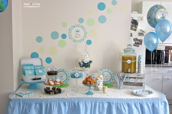 baby shower little prince baby pop 39 s party baby shower france. Black Bedroom Furniture Sets. Home Design Ideas