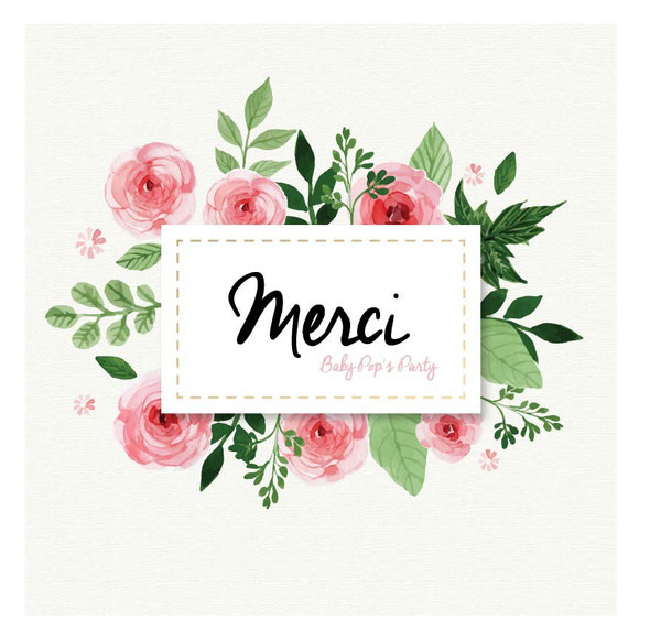 merci thanks flowers