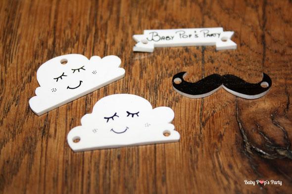 plastique fou bijoux diy homemade création tutoriel nuage moustache cloud