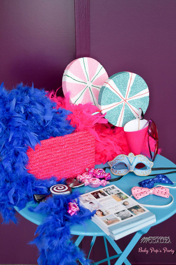 photobooth rose bleu fille garçon baby shower bonbons gourmand photographe modaliza