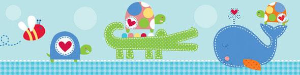 baby shower bébé garçon star baleine abeille tortue crocodile thème déco