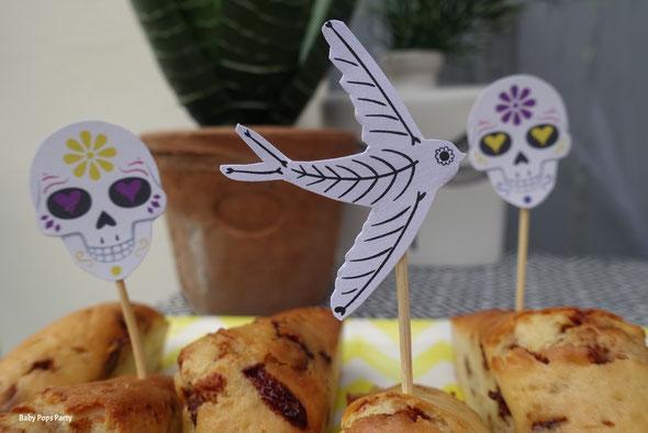 halloween décoration de table papeterie freeprintable à imprimer gratuit dia de los muertos sweet table déco