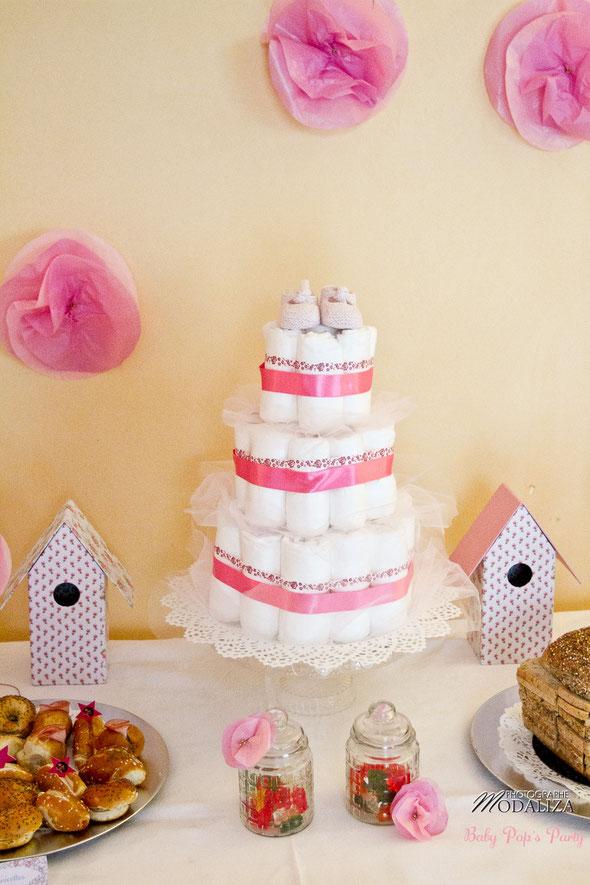 baby shower décoration organisation liberty fille femme enceinte rose fleurs blanc petit pois ballons guirlande photobooth girl bébé cupcakes bordeaux paris toulouse pays basque charente