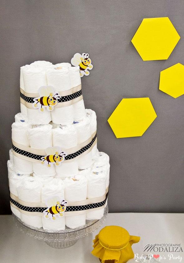 baby shower abeille bee bizz jaune fille garçon