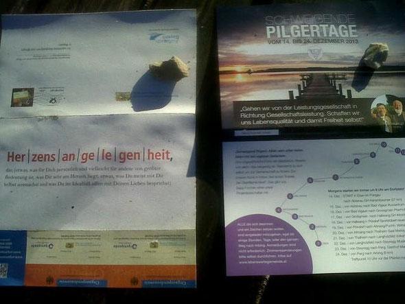 Flyer vom Herznetzwerk in Bayern und unser Flyer. Es gibt viele bewusstseinsbildende  Initiativen...