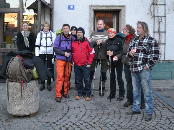 Start für die Etappe Bad Vigaun-Großgmain (16.12.)