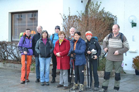 Start zur Etappe Großgmain-Hallwang (17.12.)