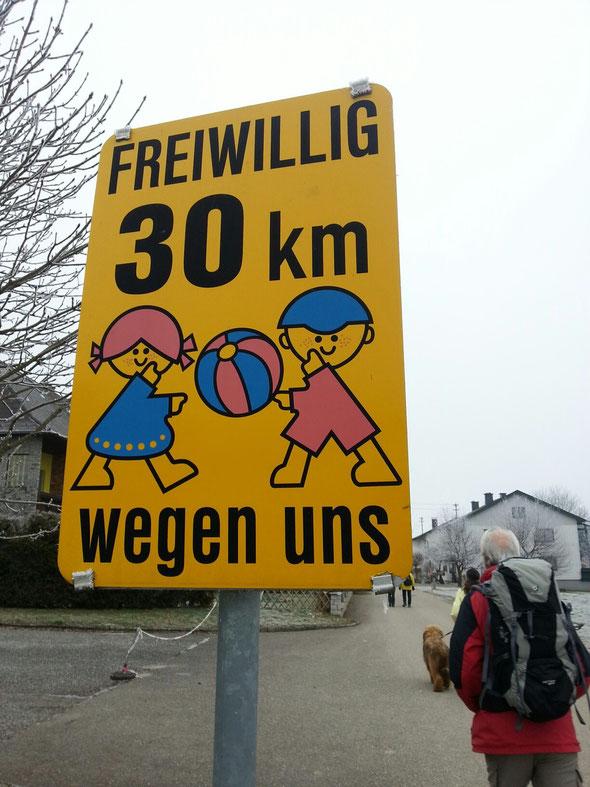 Ja, wir gehen freiwillig 30 Kilometer am Tag! und manchmal mehr, pssst!
