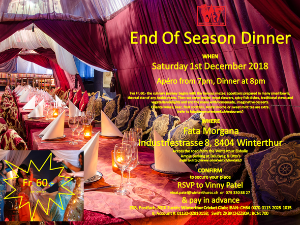 WCC End Of Season Dinner (01.12.2018)