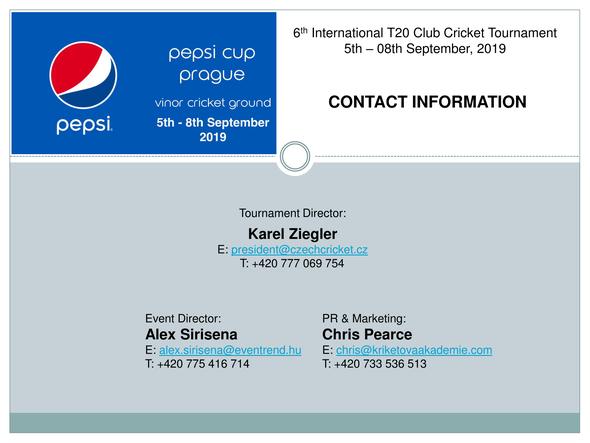 6th Pepsi Cup Prague (5-8.9.2019)