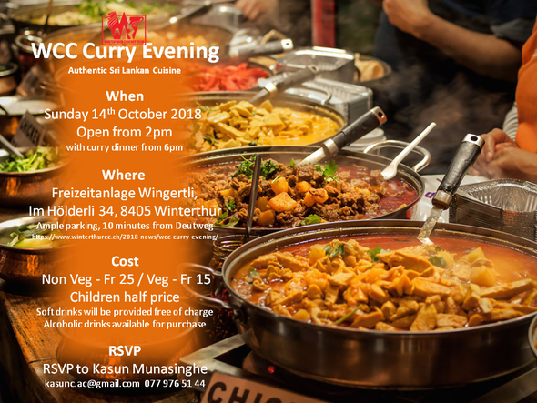 click to enlarge the WCC Curry Evening flyer