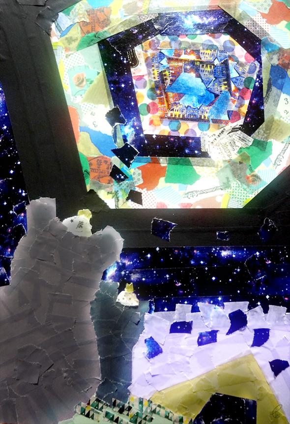 夜にみた空/マスキングテープ PhotoshopCS6 2015,12.16
