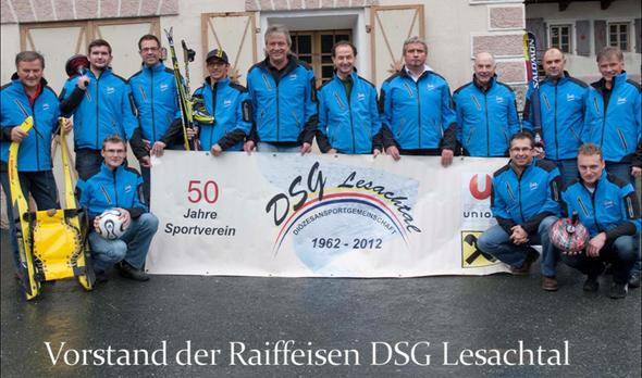 Vorstand DSG Lesachtal - Jubiläumsferier 50 Jahre DSG Lesachtal (1962 - 2012)