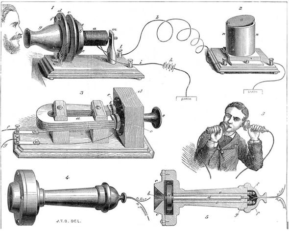Рисунок телефона А.Г. Белла