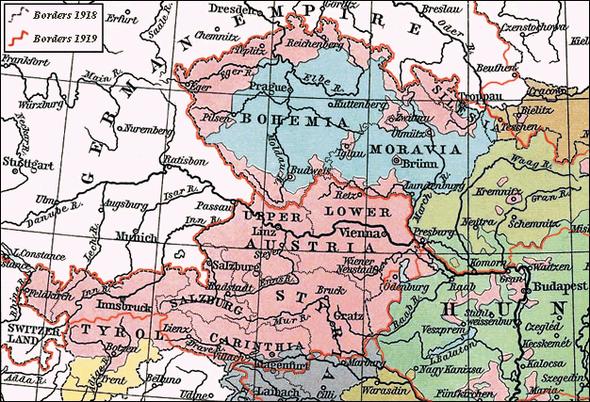 Фрагмент национальной карты Австро-Венгрии в 1911 г.