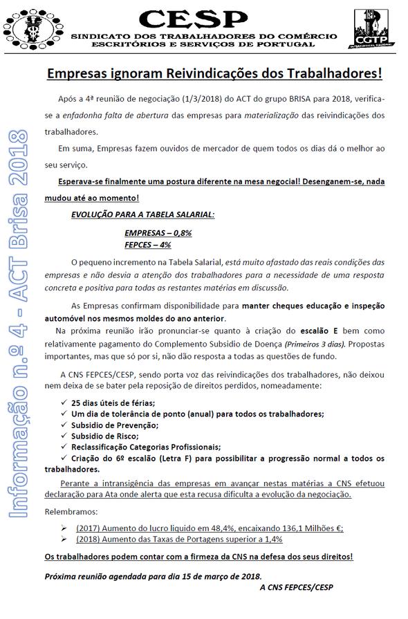 Informação nº8 - ACT Brisa 2018 - Sindicato dos Trabalhadores do ... 3c9597656629f