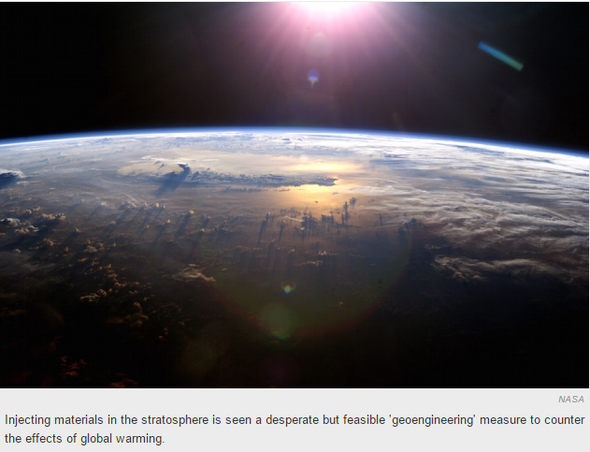 3 -Climate scientists ponder spraying diamond dust in the sky to