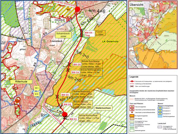Karte basiert aud Daten der  Niedersächsichen Landesbehörde für Straßenbau und Verkehr