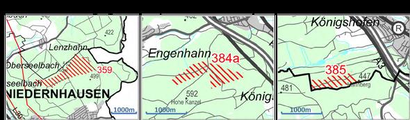 © Pro Windkraft Niedernhausen 2014 auf Basis Flächensteckbriefe - Entwurf 2013 vom RP Darmstadt