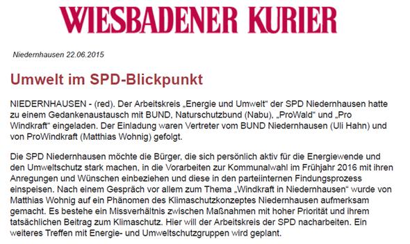 Niedernhausen: Umwelt im SPD-Blickpunkt