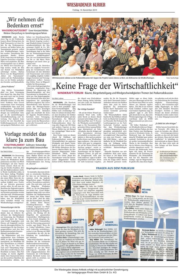 Windkraft Forum in Wiesbaden