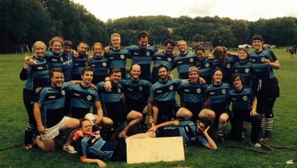 Die beiden Hamburger Teams zeigten auch bei der DHM 2014 in Göttingen gutes 7er Rugby