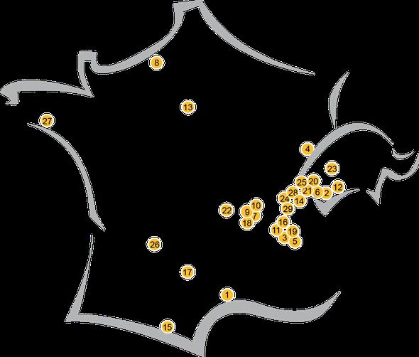 carte des diplomés de l'école de la voix - enseignement du chant