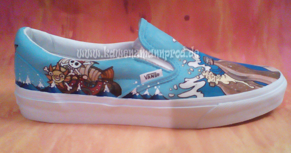 custome made painted shoes, One Piece Thousand Sunny