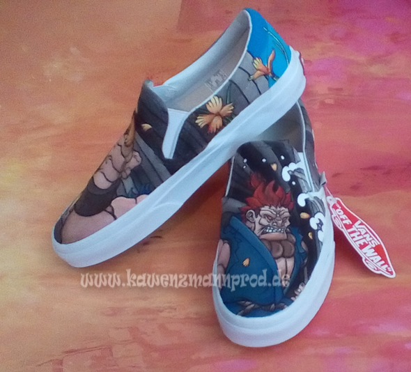 custome made painted shoes Akuma