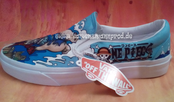 custome made painted shoes One Piece Franky