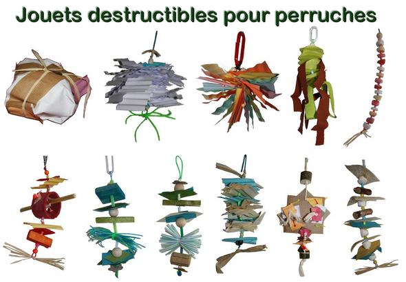 Jouets destructibles pour perruches