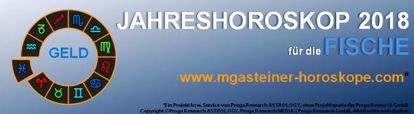 JAHRESHOROSKOP 2018 für die FISCHE: GELD.