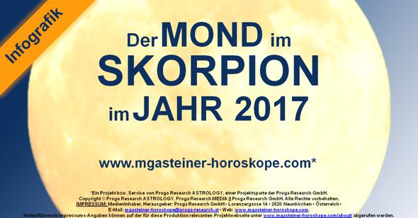 Der MOND im SKORPION im JAHR 2017.