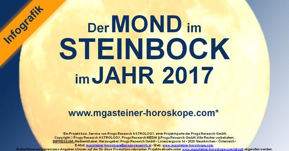 Der MOND im STEINBOCK im JAHR 2017.