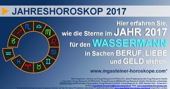 JAHRESHOROSKOP für den WASSERMANN (20. Januar bis 18. Februar): Beruf. Liebe. Geld.
