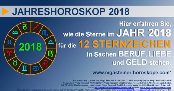 JAHRESHOROSKOP 2018: Astrologe Michael Gasteiner verrät Ihnen, wie IHRE STERNE stehen.