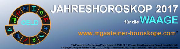 JAHRESHOROSKOP 2017 für die WAAGE: GELD.