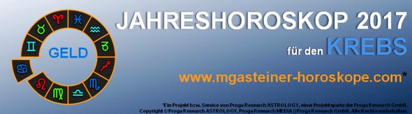 JAHRESHOROSKOP 2017 für den KREBS: GELD.